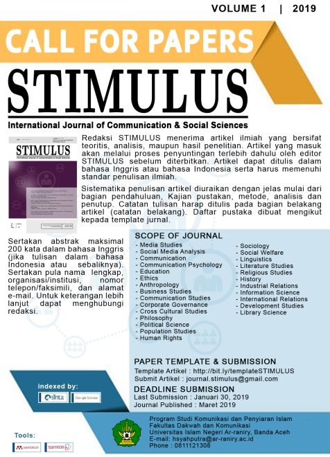 STIMULUS: International Journal of Communication and Social